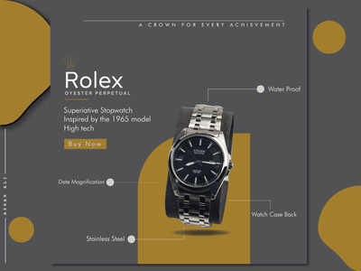 Advertisement Poster Of Rolex Brand art illustrator vector identity graphic design typography designer designinspiration design branding