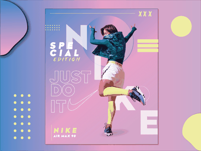 Nike air max 90 poster sample illustrator vector typography identity designinspiration graphic design design branding
