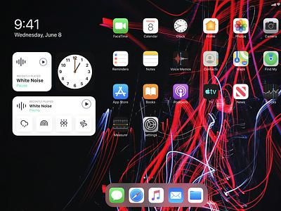 Widget design for a white noise app icon remix white noise ios14 ui ipadpro widget