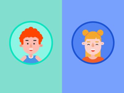 Boy & Girl Flat Avatar