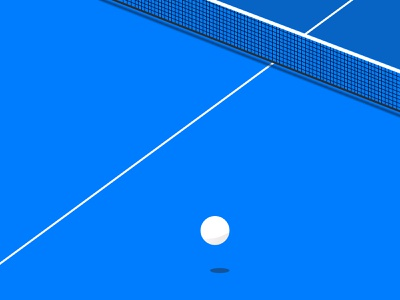 Ping Pong Ball ping pong ball line simple table table tennis ball blue minimalism sport