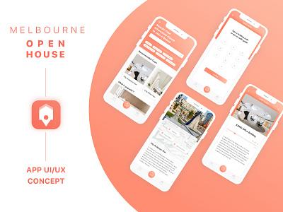 Open House Event App Concept queue up ticket event ux melbourne open house app ui