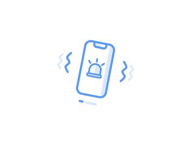 Emergency Alarm Icon lineicons blue illustration icon alarm