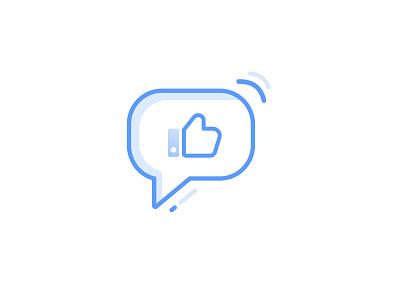 Checkin Icon lineicons blue vector illustration logo