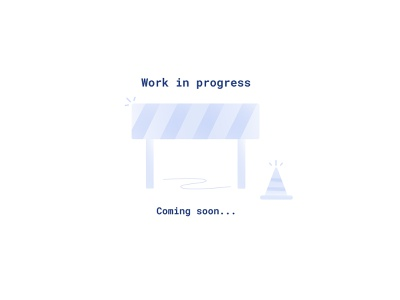 Coming soon page roadblocks construction 404 error blue gradient coming soon page 404 illustration