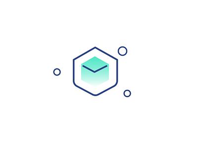 Distribution Icon e-invoicing accounting software blockchain branding vector lineicons ui illustration