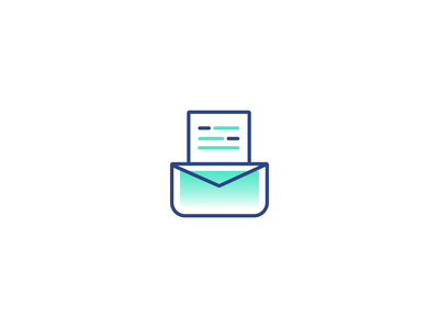 Send invoice icon accounting e-invoicing mint green mint lineicons vector illustration