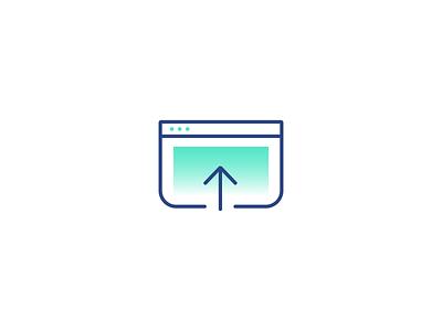 Uploading icon accounting software e-invoicing blockchain vector lineicons icon illustration