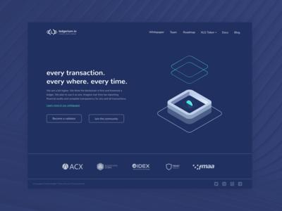ledgerium blockchain landing page