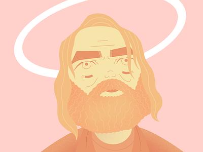 DEVS: Forest actor tv series forest devs beard nick offerman character illustration