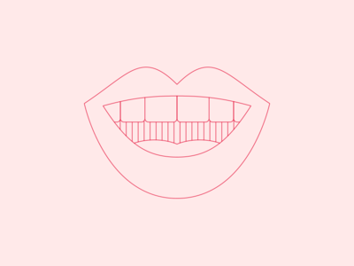 Bragging mouth lips talking smile vector illustration spot illustration icon agency 2d flat minimal line illustration