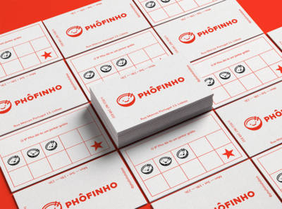 Phôfinho Business Card branding design happy cute branding and identity logo restaurant logo business card branding