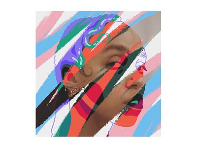 FKA Twigs colorful procreate portrait illustration fka twigs