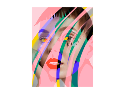 Vika colorful portrait illustration oliver rudolph vika