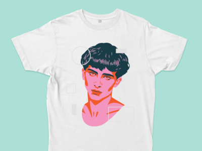 Chalamet Tee t-shirt design timothée chalamet portrait illustration