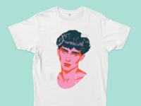 Chalamet Tee t-shirt design timothée chalamet portrait illustration