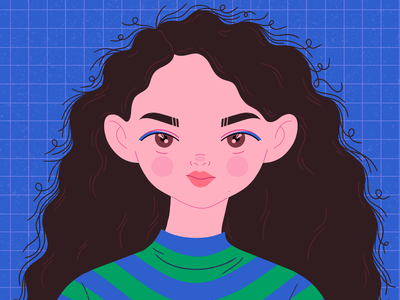 Self-portrait selfie character girl self-portrait selfportrait portrait illustration
