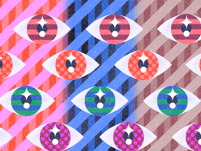 👁👁👁 procreate texture eyes flat illustration
