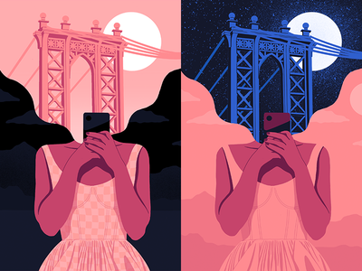 Manhattan Bridge texture dress phone procreate girl bridge new york city new york manhattan