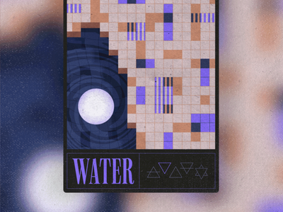 Water nft procreate texture collection magic mystical geometric water elements illustration graphic design trading cards ui collectibles card