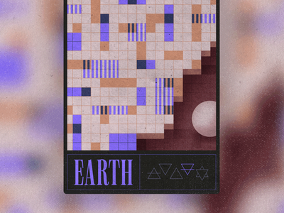 Earth crypto art nft texture procreate geometric mystical magic earth elements trading collectibles cards card graphic design illustration