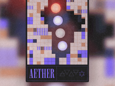 Aether space aether mystical nft procreate texture geometric collectibles trading cards card graphicdesign illustration
