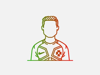 Cristiano Ronaldo avatar illustration line football player champions euro 2016 selecção portugal soccer football cristiano ronaldo