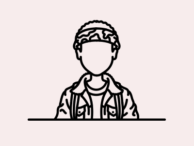 Stranger Things: Lucas Sinclair caleb mclaughlin lucas tv stranger things series netflix line illustration character