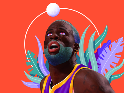 Draymond Green procreate doodles portrait illustration golden state warriors nba basketball draymond green