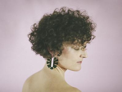Monstera Earrings: Green & Pink