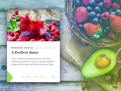 Juice Recipe Card