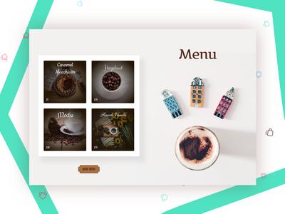 Coffee Shop Menu Section