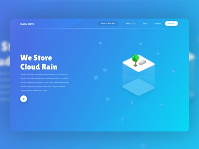 Rain Box Landing Page