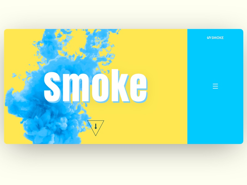 Smoke - Home Section arrow side navigation creative image manipulation smoke banner home page vintage country