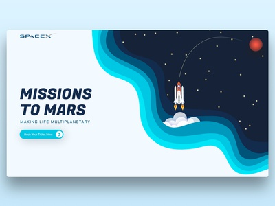SpaceX Home Page Re-Design Concept