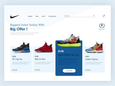 Nike Landing Page Redesign