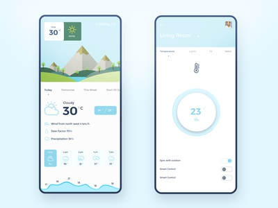 Weather app with smart home app