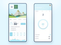 Smart home app with weather integrate