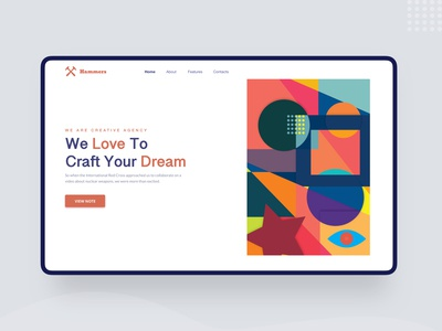 Agency Landing Page⎜Home Screen