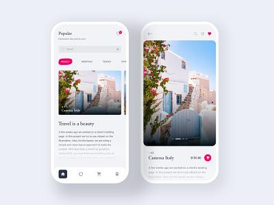 Travel App Interaction cart ratings image manipulation mobile app design ux new trend blog post travel app mobile app branding mobile typography interface app ui