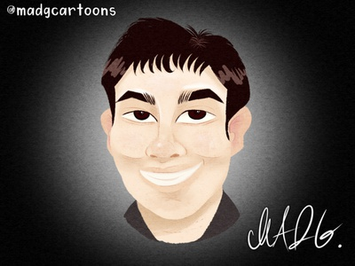 Caricatures - Self Portrait concept childrens illustration character cartoon avatars artist filipino caricatures