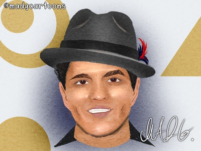 Caricatures - Commission 4 - Bruno Mars walkway fedoras hats mars bruno mars music art celebrities musicians music childrens book illustration character design concept childrens illustration character cartoon