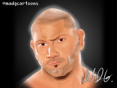 Caricatures - Commission 6 - David Bautista filipino caricatures wrestling wwe caricature color childrens book illustration character design concept childrens illustration character cartoon