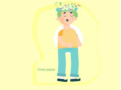 Inner peace vector illustration design characterdesign