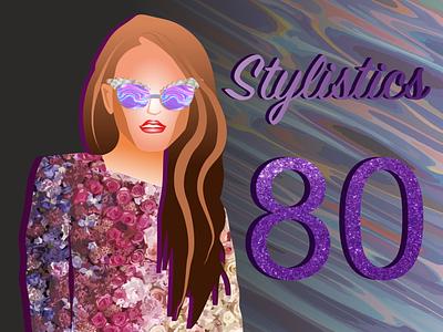 Style 80s illustraion style80 beautiful icon style fashion красота woman fashion brand vector design illustration
