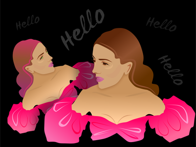 Pink Flowers icon style fashion красота woman fashion brand logo vector design illustration