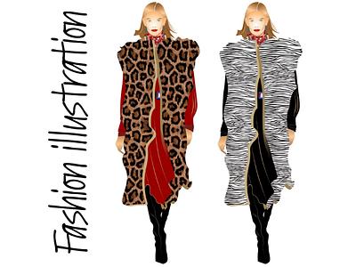 Fashion Illustration graphic design design image model art vector illustration moda fashion illustration