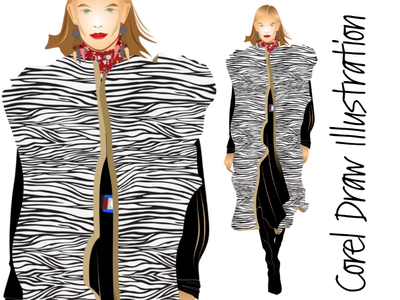 Corel Draw illustration graphic design design vector illustration art fashion illustration illustration corel draw