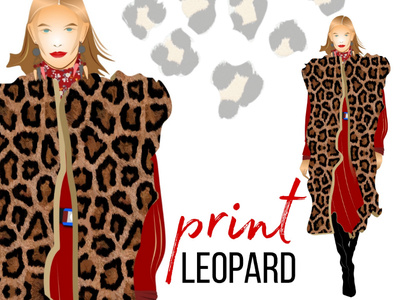 Leopard PRINT fashion clothing clothing design clothing winter clothes corel draw vector illustration leopard print leopard print