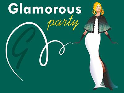 Party graphic design beautiful icon fashion style красота woman vector design illustration